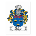 Escudo de la familia de Dolcini Tarjetas Postales