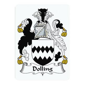 """Escudo de la familia de Dolling Invitación 5"""" X 7"""""""