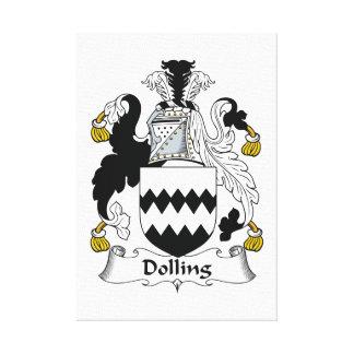 Escudo de la familia de Dolling Lienzo Envuelto Para Galerías