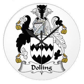 Escudo de la familia de Dolling Reloj Redondo Grande