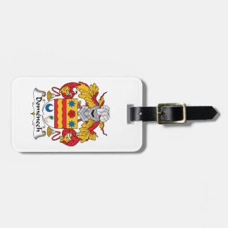 Escudo de la familia de Domenech Etiquetas Maletas