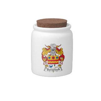 Escudo de la familia de Domenech Plato Para Caramelo