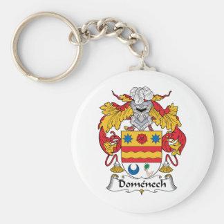 Escudo de la familia de Domenech Llavero Personalizado