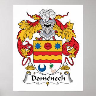 Escudo de la familia de Domenech Posters