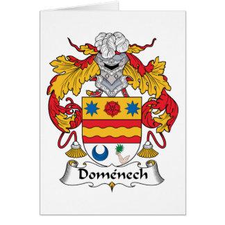 Escudo de la familia de Domenech Felicitación