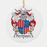 Escudo de la familia de Domínguez Ornamento De Navidad