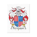 Escudo de la familia de Domínguez Impresiones En Lienzo Estiradas