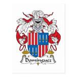 Escudo de la familia de Domínguez Postal