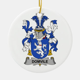Escudo de la familia de Domvile Adorno Redondo De Cerámica