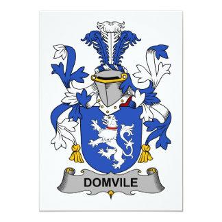 Escudo de la familia de Domvile Invitación 12,7 X 17,8 Cm