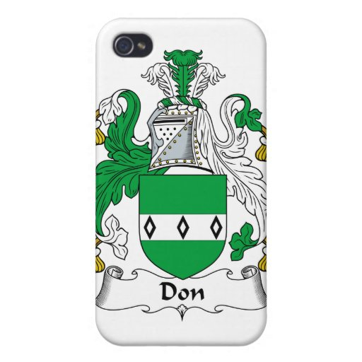 Escudo de la familia de Don iPhone 4 Carcasa