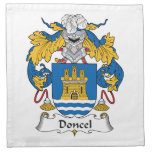 Escudo de la familia de Doncel Servilletas