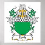 Escudo de la familia de Donk Poster