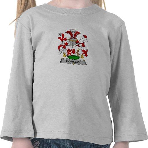 Escudo de la familia de Donlevy Camisetas