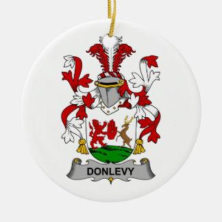 Escudo de la familia de Donlevy Adorno Redondo De Cerámica