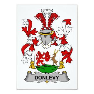 """Escudo de la familia de Donlevy Invitación 5"""" X 7"""""""