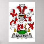 Escudo de la familia de Donlevy Poster