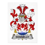 Escudo de la familia de Donnelly Invitaciones Personalizada