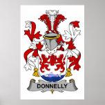 Escudo de la familia de Donnelly Poster