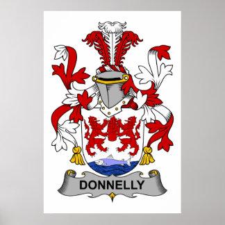 Escudo de la familia de Donnelly Póster