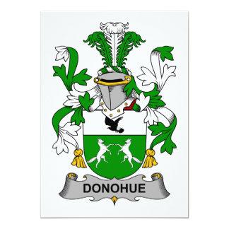 """Escudo de la familia de Donohue Invitación 5"""" X 7"""""""