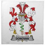 Escudo de la familia de Donovan Servilletas De Papel