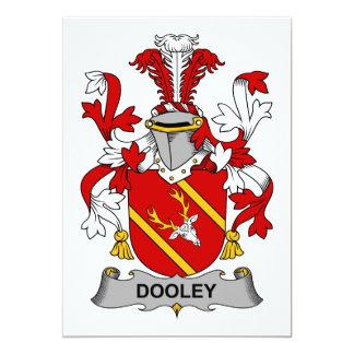 """Escudo de la familia de Dooley Invitación 5"""" X 7"""""""