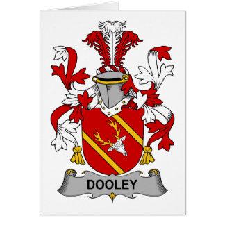 Escudo de la familia de Dooley Tarjeta De Felicitación