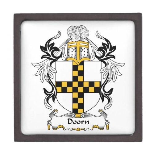 Escudo de la familia de Doorn Cajas De Joyas De Calidad