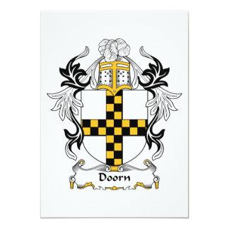 """Escudo de la familia de Doorn Invitación 5"""" X 7"""""""