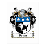 Escudo de la familia de Doran Postal