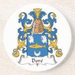 Escudo de la familia de Dore Posavasos Personalizados