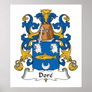 Escudo de la familia de Dore Póster