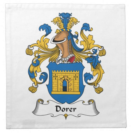 Escudo de la familia de Dorer Servilleta