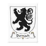 Escudo de la familia de Dornach Impresión En Lona