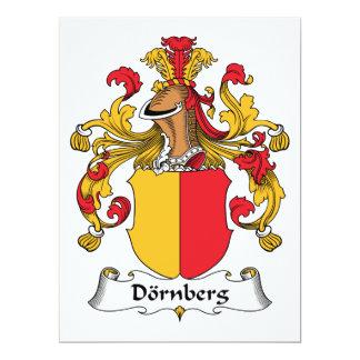 """Escudo de la familia de Dornberg Invitación 6.5"""" X 8.75"""""""
