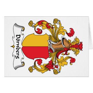Escudo de la familia de Dornberg Tarjeta De Felicitación