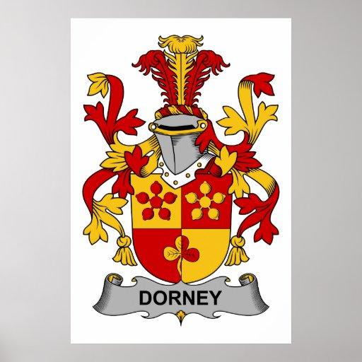 Escudo de la familia de Dorney Póster