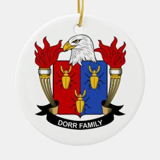 Escudo de la familia de Dorr Adorno Redondo De Cerámica