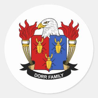 Escudo de la familia de Dorr Pegatina Redonda