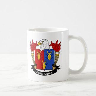 Escudo de la familia de Dorr Taza De Café