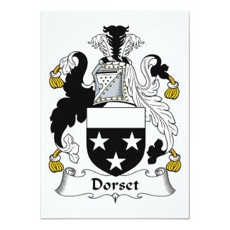 """Escudo de la familia de Dorset Invitación 5"""" X 7"""""""