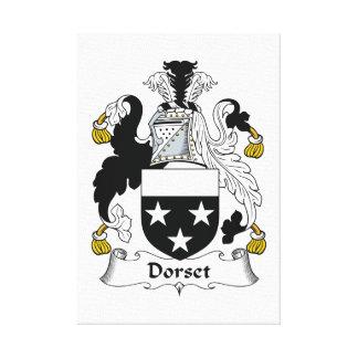 Escudo de la familia de Dorset Lienzo Envuelto Para Galerias