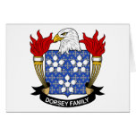 Escudo de la familia de Dorsey Felicitación