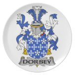 Escudo de la familia de Dorsey Platos De Comidas