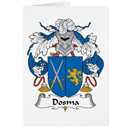 Escudo de la familia de Dosma Felicitación