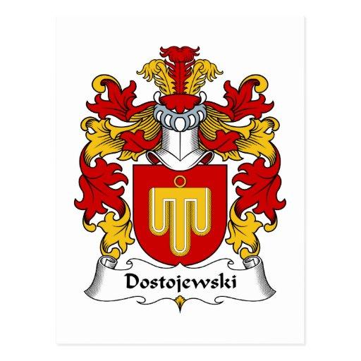 Escudo de la familia de Dostojewski Postal
