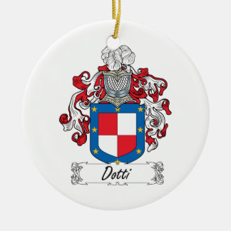 Escudo de la familia de Dotti Adorno Redondo De Cerámica