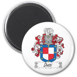 Escudo de la familia de Dotti Imán Redondo 5 Cm