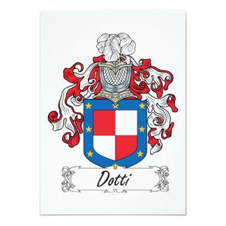 """Escudo de la familia de Dotti Invitación 5"""" X 7"""""""